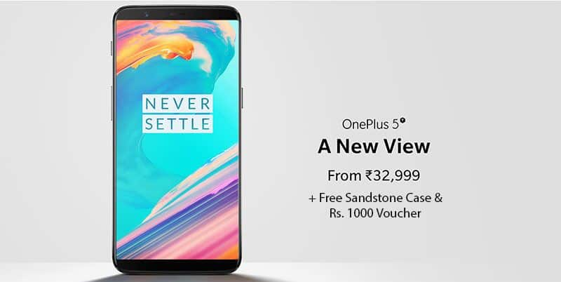 Buy OnePlus 5T and Get Free Sandstone Case + 1000 Off | Exclusive Offer