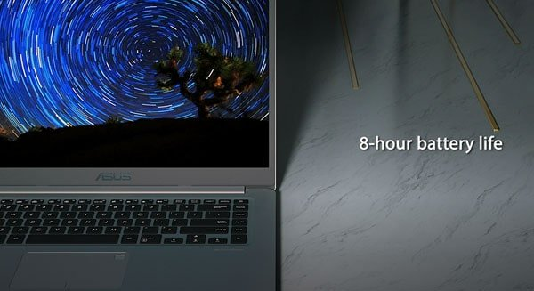 Asus Vivobook S15 has 8-hours Battery Life