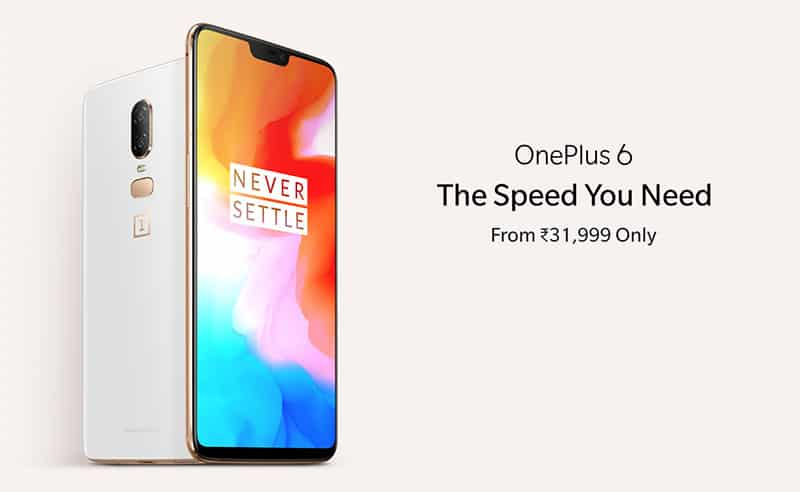 Best Offer on OnePlus 6 at Rs. 27,999 | Complete Rs. 7000 off
