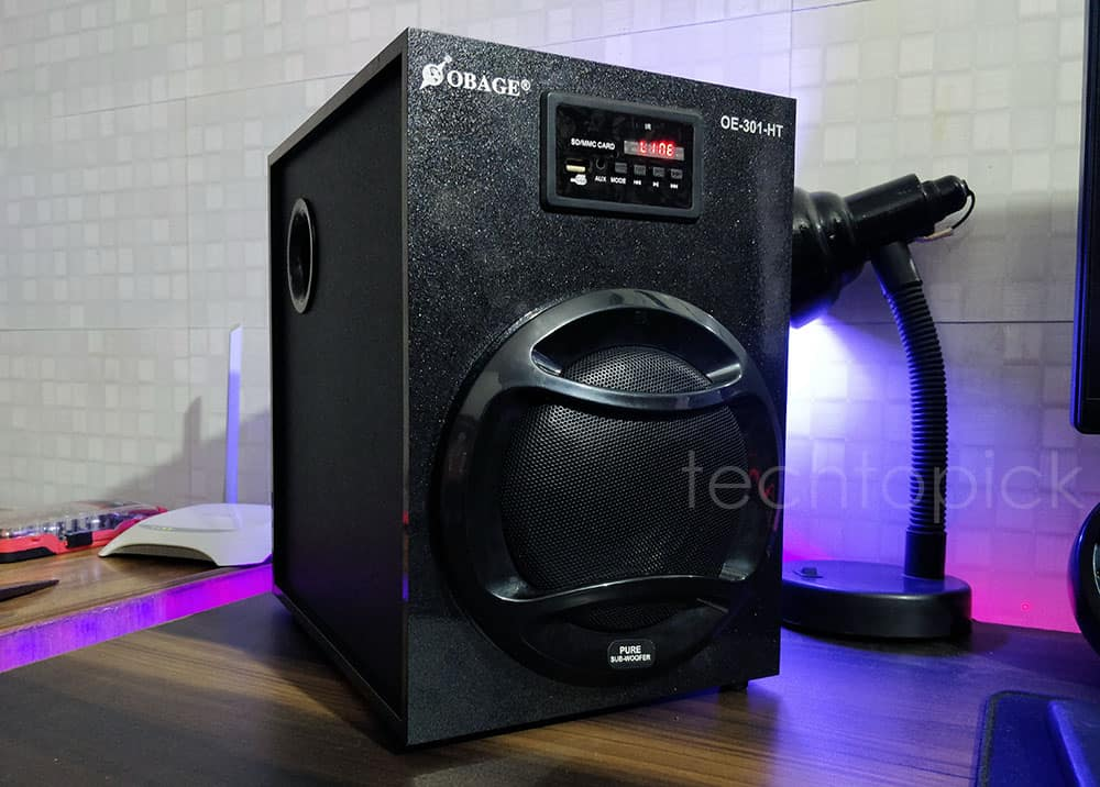 Sub Woofer of Obage 301 Multimedia Speakers