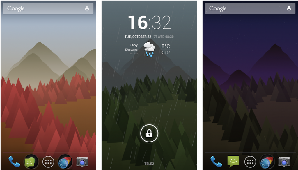 Forest Live Wallpaper apps for android