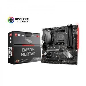 MSI b450m Mortar 1 motherboard