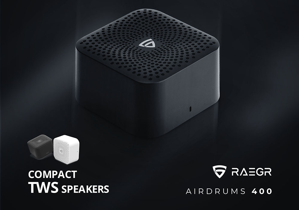RAEGR AirDrums 400 TWS Mini Bluetooth Speaker Information